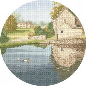 Duck Pond Набор для вышивания крестом Heritage Crafts H242
