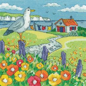 Poppy Shore Набор для вышивания крестом Heritage Crafts H1519