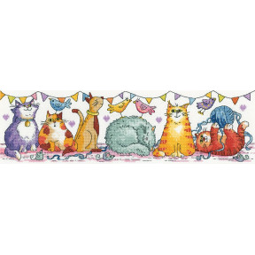 Cat Show Набор для вышивания крестом Heritage Crafts H1539