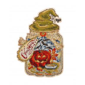 Набор для вышивки крестом Alisena 5564 Баночка – Октябрь
