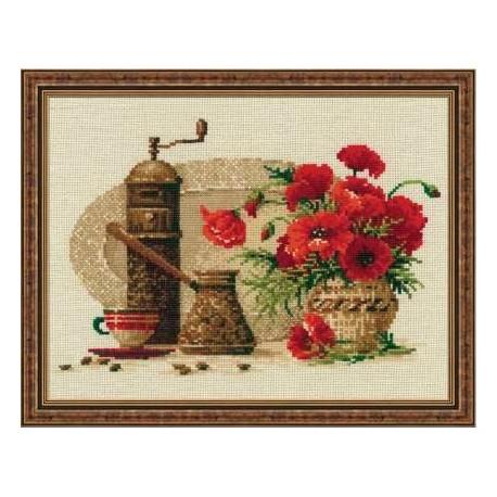 Набор для вышивки крестом Риолис 1121 Кофе фото