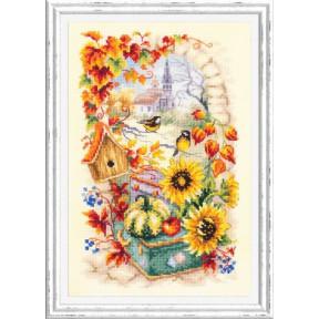 Яркая осень Набор для вышивки крестом Чудесная игла 110-950