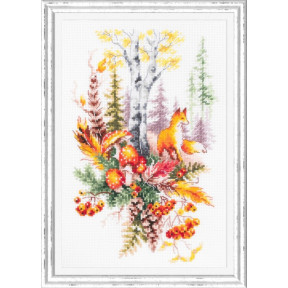 Дух осеннего леса Набор для вышивки крестом Чудесная игла 200-018