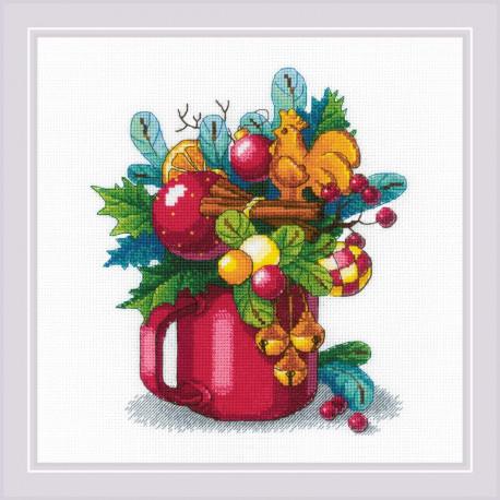 Новогодний аромат Набор для вышивания крестом Риолис 1985