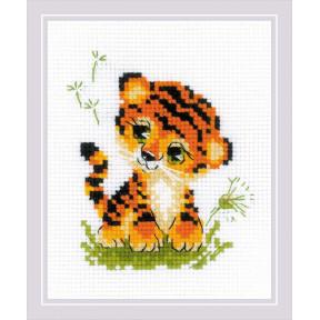 Крошка Тигр Набор для вышивания крестом Риолис 1995