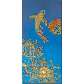 Кои синий Набор для вышивки бисером Абрис Арт AB-825