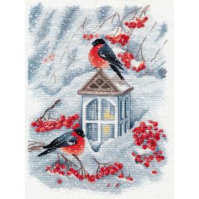 А снег идёт Набор для вышивки крестом Овен 1415