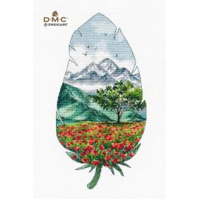 Горный пейзаж-3 Набор для вышивки крестом Овен 1416