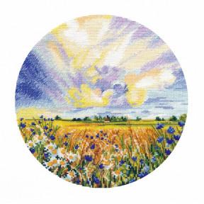 Ромашковое поле Набор для вышивки крестом Овен 1422