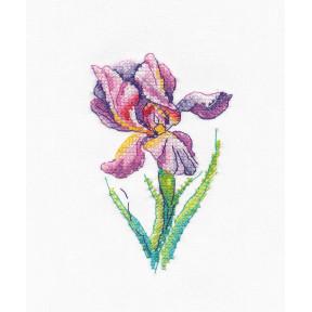 Радужный цветок Набор для вышивки крестом Овен 1425