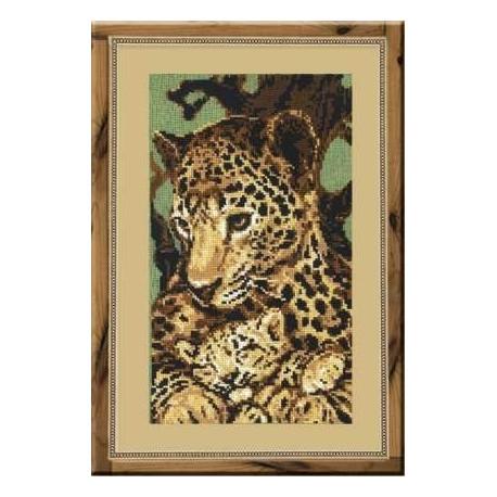Набор для вышивки крестом Риолис 316 Леопарды фото