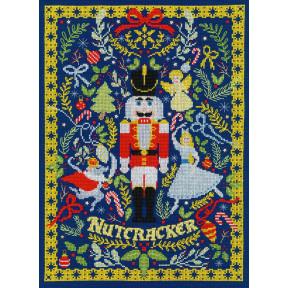 Набор для вышивания крестом The Christmas Nutcracker Рождественский Щелкунчик Bothy Threads XX17