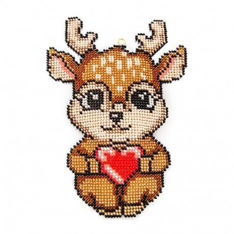 Наименование: Набор для вышивания бисером объемной новогодней игрушки Golden Key N-039
