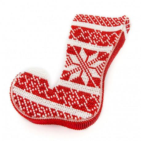 Набор для вышивания бисером объемной новогодней игрушки Golden Key N-043