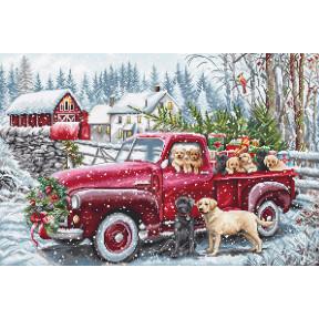 Рождественская доставка Набор для вышивания крестом LETISTITCH L8014