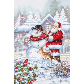 Снеговик и Санта Набор для вышивания крестом LETISTITCH L8015