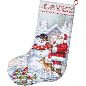 Снеговик и чулок Санты Набор для вышивания крестом LETISTITCH L8016
