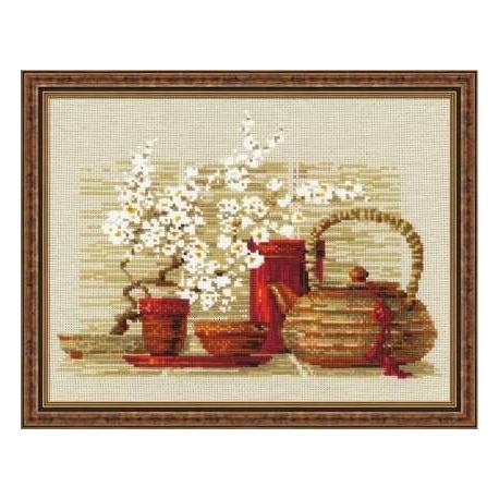 Набор для вышивки крестом Риолис 1122 Чай фото