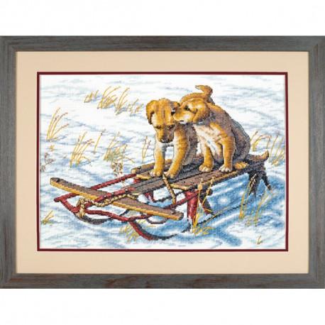 Набор для вышивания крестом Dimensions 70-08852 Sled dogs фото