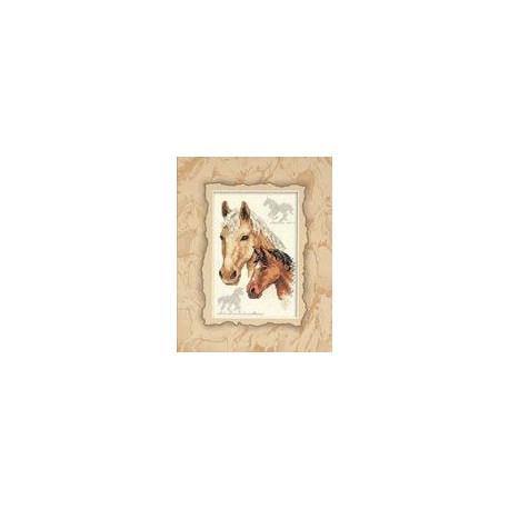 Набор для вышивания крестом Dimensions 06889 Equestrian Duo фото