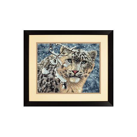 Набор для вышивки крестом Dimensions 35244 Snow Leopard фото