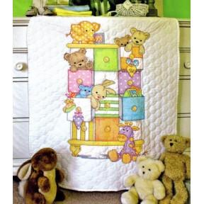 Набор для вышивания  детского одеяла Dimensions  73537 Baby drawers Quilt