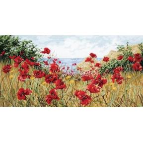 """Набор для вышивания Anchor APC940 Clifftop Poppies / """"Маковый"""