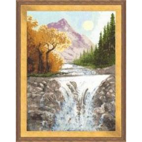 Набор для вышивки крестом Золотое Руно ВМ-013 Осень в Горах