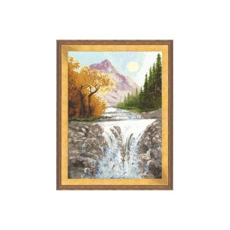 Набор для вышивки крестом Золотое Руно ВМ-013 Осень в Горах фото