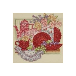 Набор для вышивания Bucilla 45575 Red Tea Set
