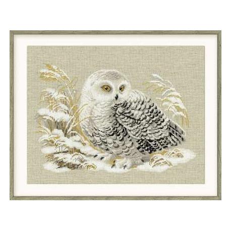 Набор для вышивки крестом Риолис 1241 Белая сова фото