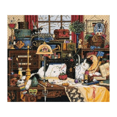 Набор для вышивки крестом Dimensions 03884 Maggie Messmaker фото