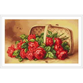 Набор для вышивки крестом Luca-S  Корзина с розами B499