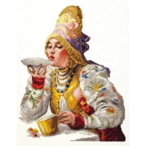 Набор для вышивки крестом Чудесная игла 66-01 Боярышня за чаем