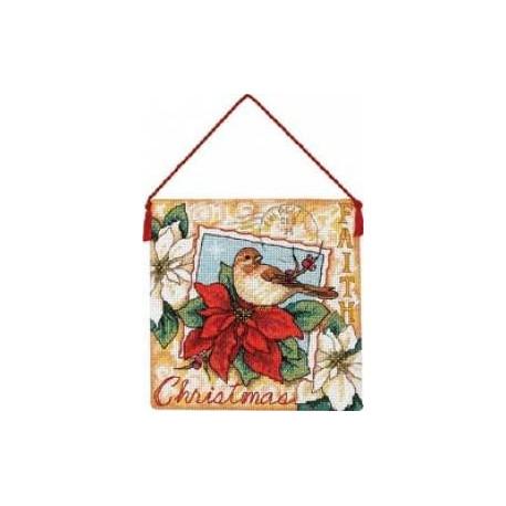 Набор для вышивания крестом Dimensions 70-08841 Faith Ornament