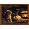 Набор для вышивки крестом Риолис 1142 Львы в Саванне фото