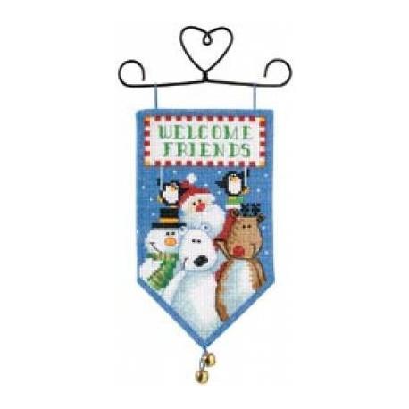 Набор для вышивания Dimensions 8821 Banners Santa&Friends фото