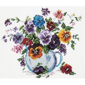 Набор для вышивки крестом Чудесная игла 40-02 Любимые цветы