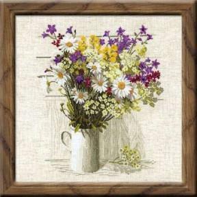 Набор для вышивки крестом Риолис 924 Букет полевых цветов