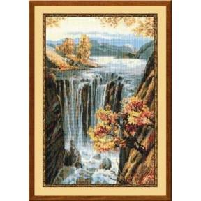 Набор для вышивки крестом Риолис 974 Водопад