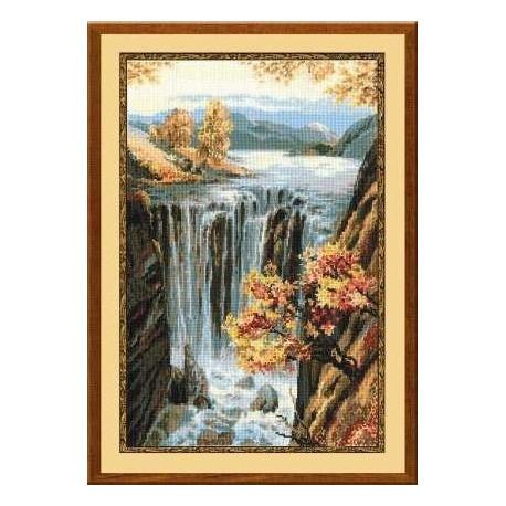 Набор для вышивки крестом Риолис 974 Водопад фото