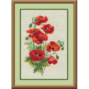 Набор для вышивки крестом Риолис 808 Красные маки