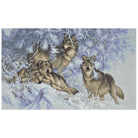 Набор для вышивки крестом Dimensions 35227 Wintertime Wolves