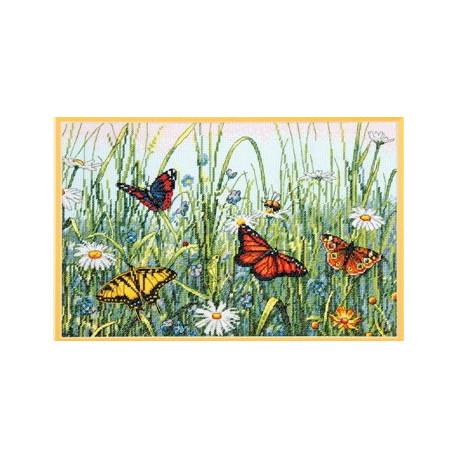 Набор для вышивания Dimensions 70-35271 Field of Butterflies