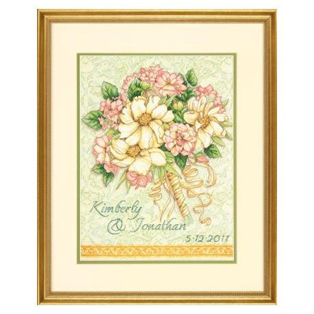 Набор для вышивания Dimensions 70-35275 Wedding Record Bouquet