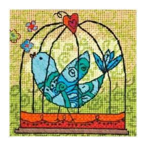 Набор для вышивания гобелена Dimensions 71-07235 Birdie фото