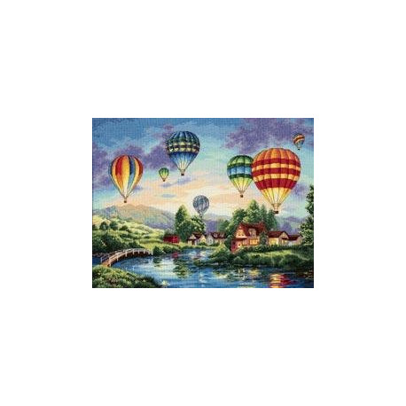 Набор для вышивки крестом Dimensions 35213 Balloon Glow фото