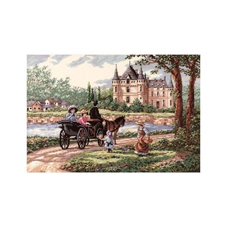 Набор для вышивки крестом Dimensions 03790 M'Lady's Chateau фото