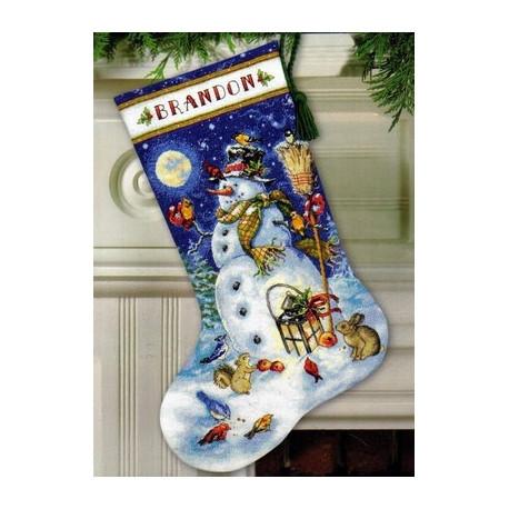 Набор для вышивания Dimensions 70-08839 Snowman & Friends фото
