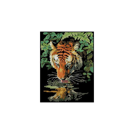 Набор для вышивки крестом Dimensions 06961 Tiger Reflection фото